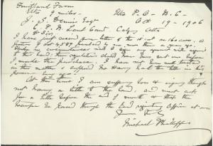 1906 letter