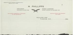 Fruitlands letterhead