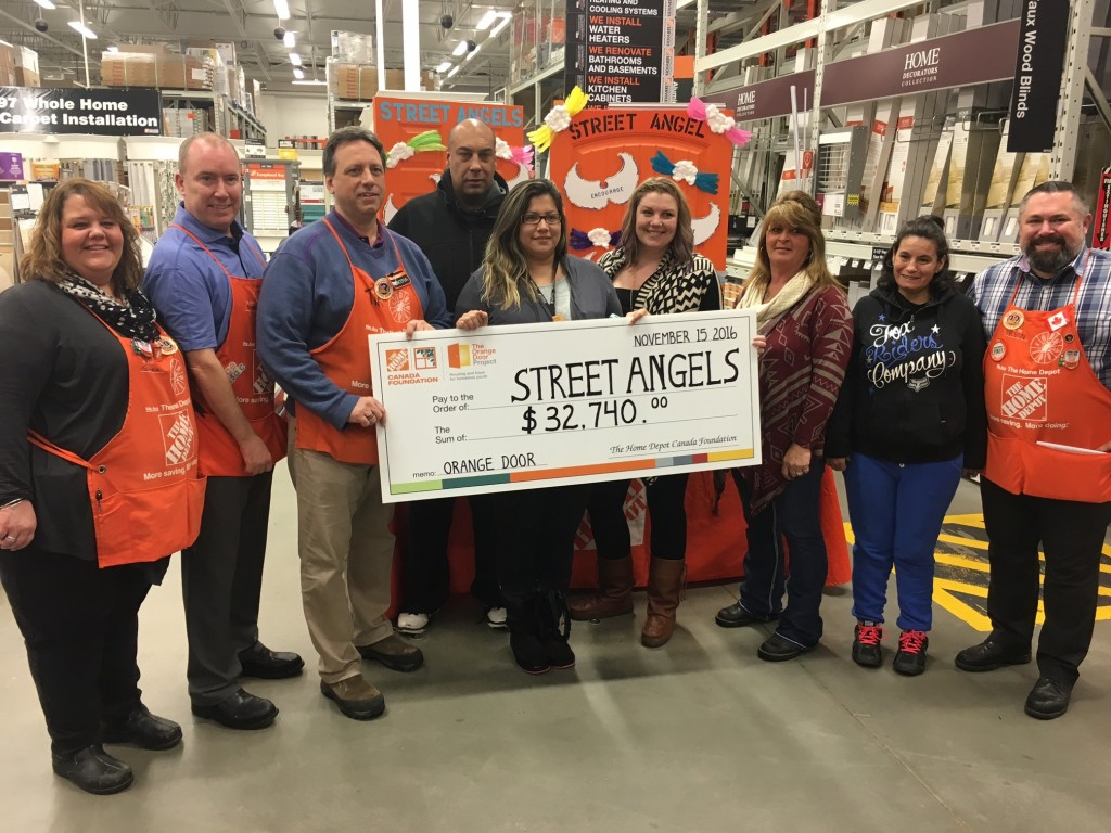 Home Depot and Street Angel staff. Photo courtsey David Opinko (Summit 107)